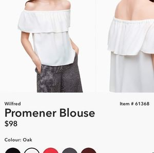 Wilfred off shoulder blouse